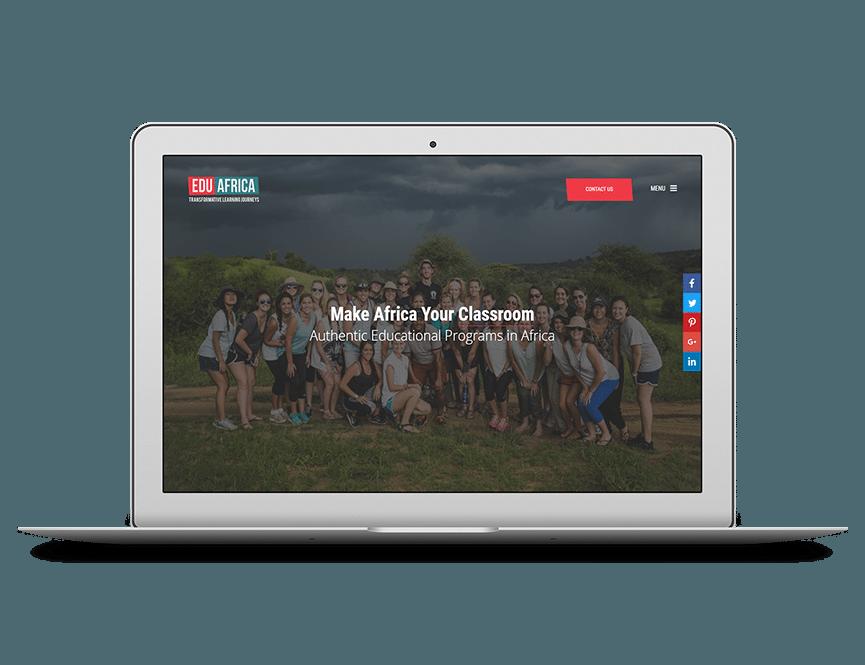 Edu Africa homepage visual